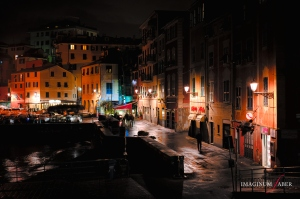 Rainy evening, Genova Nervi, Liguria, Italy