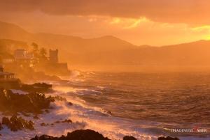 After the storm, Genova Nervi, Liguria, Italy