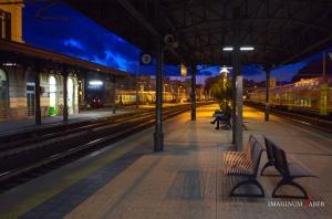 The Railway Station at Sestri Levante, Liguria, Italy