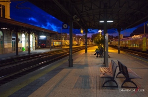 The Railway Station at Sestri Levante, Liguria, Italy