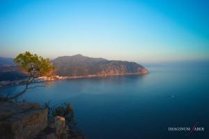 Punta Baffe, View from Punta Manara, Sestri Levante, Liguria, Italy